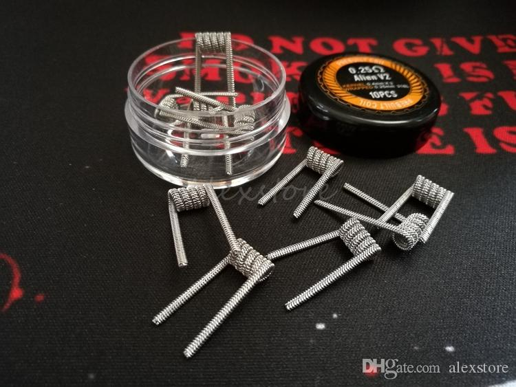 Alien v2.0 Coils Wire 0.25ohm 0.4mm*3+0.25mm 316L Stainless Steel Material Wave Flat Clapton Premade Wrap Prebuilt Wires for RDA RBA