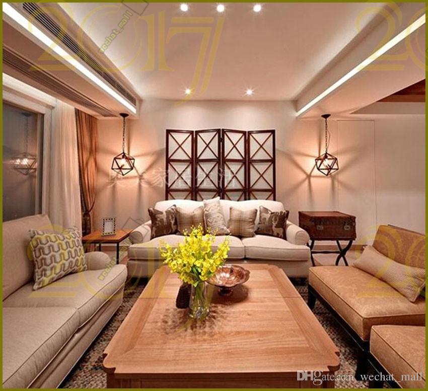 Rh освещения восстановление оборудования ретро кулон лампа Rh лофт подвесные светильники Алмазная сталь многогранника кулон светильник бар гостиная лампы E27