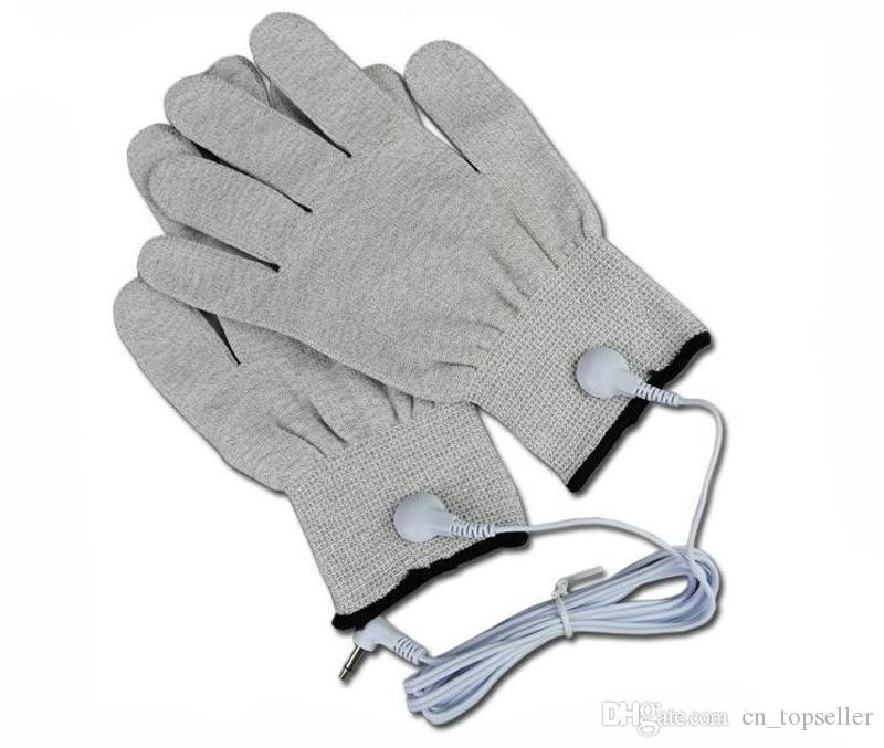 Silberne leitfähige Massagehandschuhe für Tens / Ems-Maschine