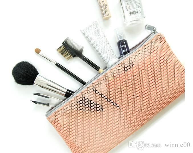 Fashion Nylon Mesh Makeup Bag Ladies Cosmetic Bag Womens Travel Toiletry Pouch Mesh bag/Fashion storage bag
