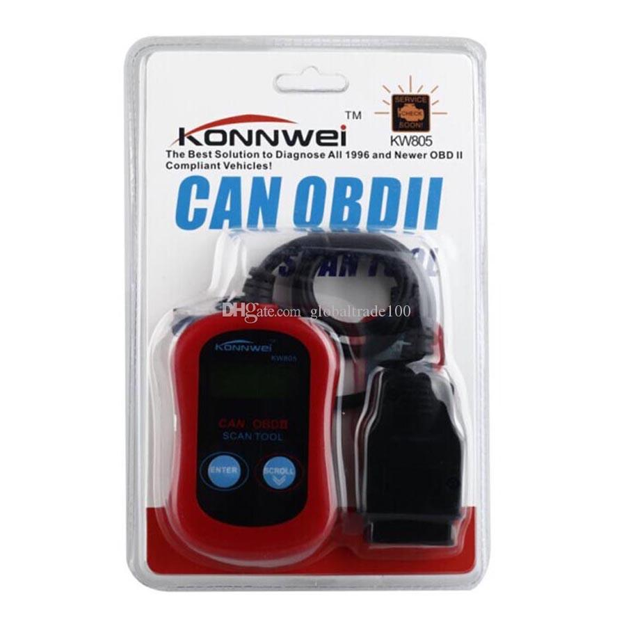 KONNWEI Car Diagnostic Tool KONNWEI KW805 Code Scanner Fault Reader CAN OBD2 OBD II EOBD ENGINE MANAGEMENT Free DHL Shipping