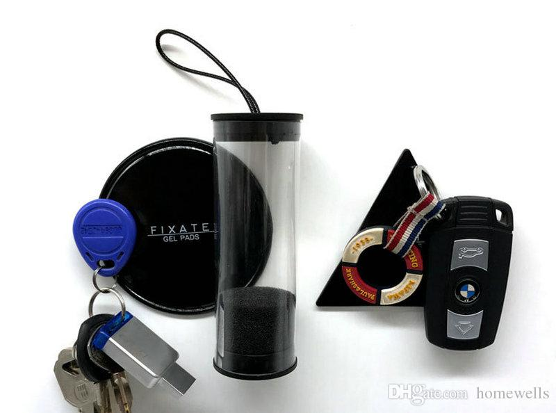 NEW Magical Super Powerful Fixate Gel Pads Strong Stick Glue Anywhere Wall Magic Car Mobile Phone Holder With Opp Bag