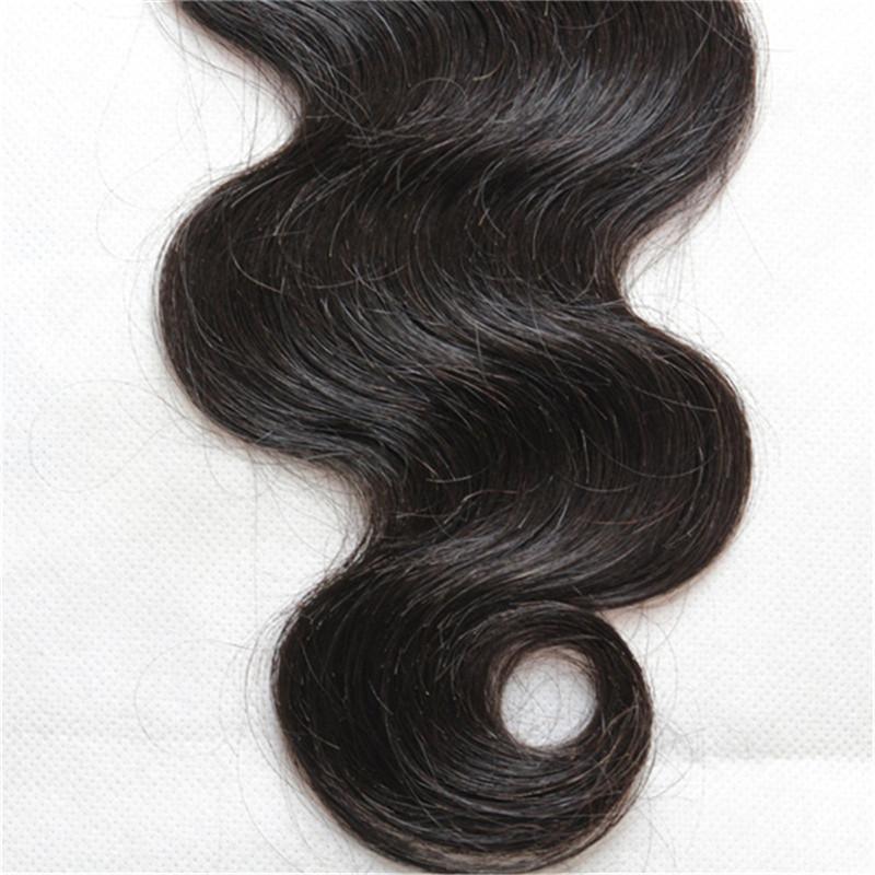 Brasilianisches jungfräuliches Körperwelle Haar spinnt Bündel mit Verschluss 10a unverarbeitete Haarverlängerungen Menschenhaarspitzeschließung
