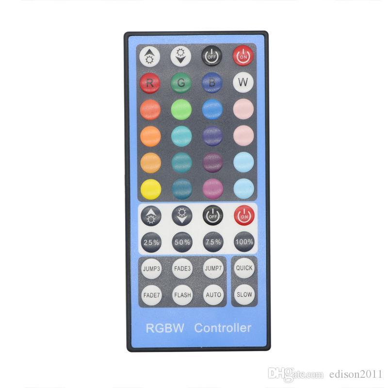 оптовые продажи 50 шт. DC12-24V 2A * 4 канала 40Key RGBW Led контроллер диммер ИК-пульт дистанционного управления для 5050 3528 RGB RGBW Led гибкая полоса лампы