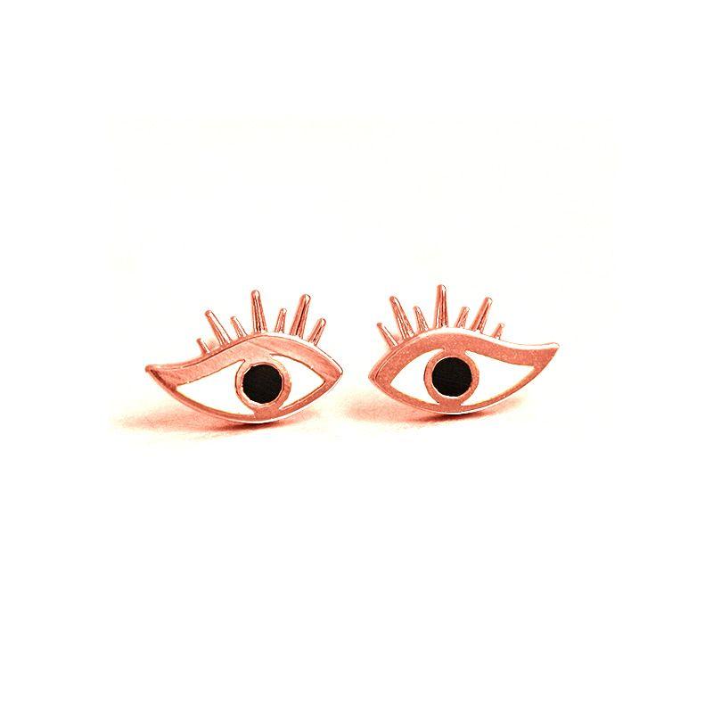 Evil Eyes Fatima Earrings Alloy With Enamal Hand Stamped Fashion Stud Earrings for Women Gifts