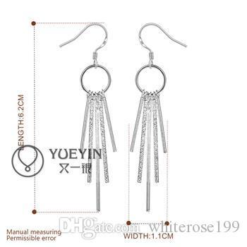 Hurtownie - Najniższa cena Boże Narodzenie prezent 925 Sterling Silver Fashion Earrings E026