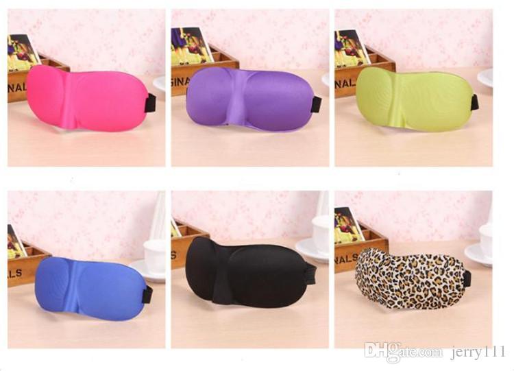 3D sleep mask Travel Rest 3D Sponge Eye MASK Black Sleeping Eye Mask Cover for health care to shield the light TA168