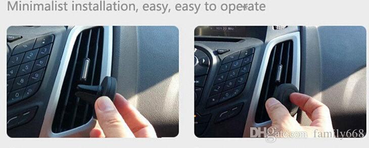 Держатель телефона автомобильный держатель вентиляционное отверстие магнитный для iPhone 7/7s один шаг монтажа 360 градусов Магнит безопаснее вождение горячий продавать