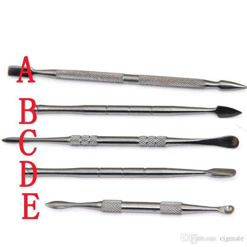 super Stainless steel wax dabber tool titanium dab nail for wax dry herb glass ago g5 vgo skillet atmos micro atomizer g vaporizer pen
