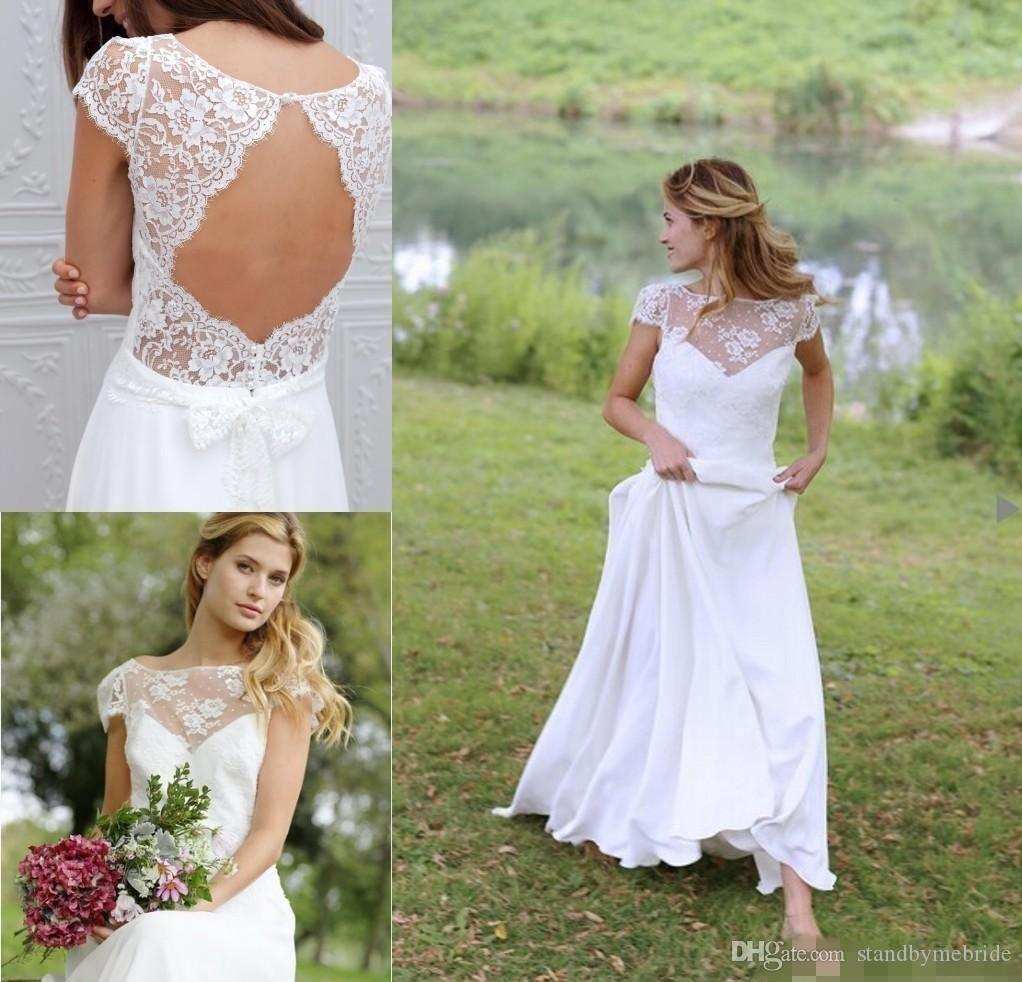 Princess Lace Bridal Ball Gowns Modest Country Wedding: Discount Modest Boho Country Wedding Dresses 2017 Cheap