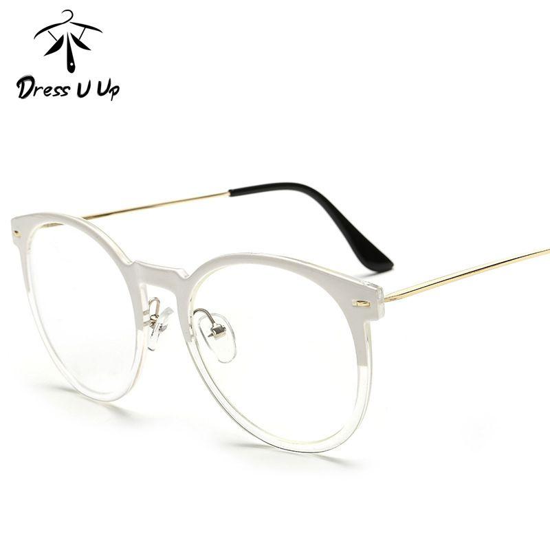 65b874b3af18 2019 Wholesale DRESSUUP Retro Round Glasses Frame For Women Men Cat Eye  Eyeglasses Frame Clear Eyeglass Spectacle Optical Eyewear Luxury From  Heathere