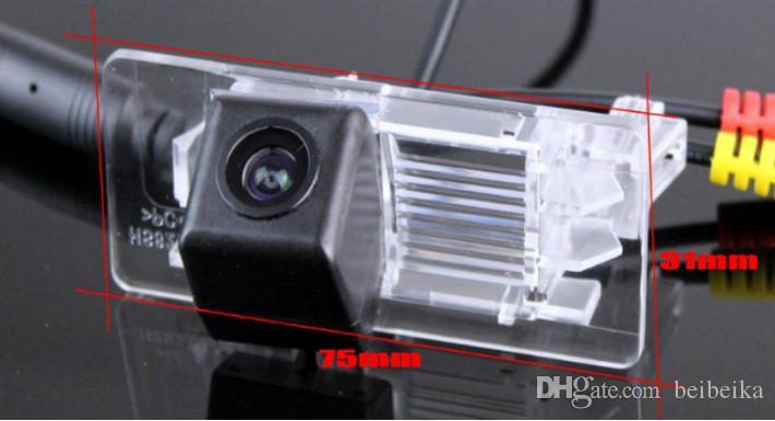 Câmera de visão traseira do carro para Volkswagen VW Jetta câmera reversa / HD CCD RCA NTST PAL / placa de luz OEM