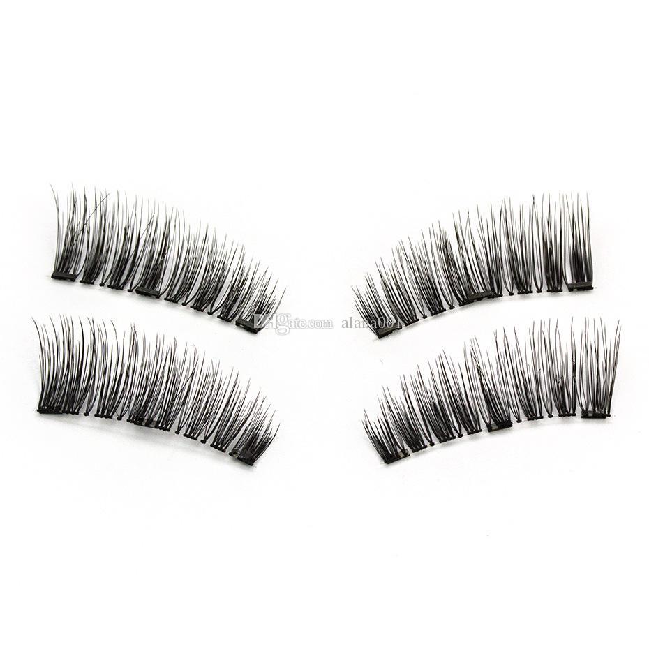 False Eyelashes Hearty Handmade 1 Pair 3d Double Magnetic False Eyelashes Makeup Reusable Natural Full Strip Fake Magnet Eye Lashes Extension Cosmetic Beauty & Health