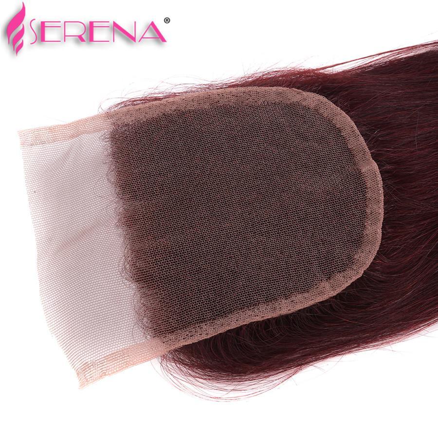 3 расслоение сделок Бургундия бразильские волосы бразильский VirginHair прямые 99j BrazilianHair волна пучки Бургундия человеческих волос переплетения с закрытием