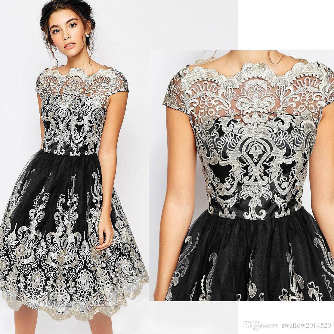 d4fcab1862 Compre Hot New Women Fashion Maxi Dress Bordado De Encaje Vestido De Mujer  Mediados De Ternero O Cuello Vestidos Vestidos De Fiesta De Noche Lady Ball  ...
