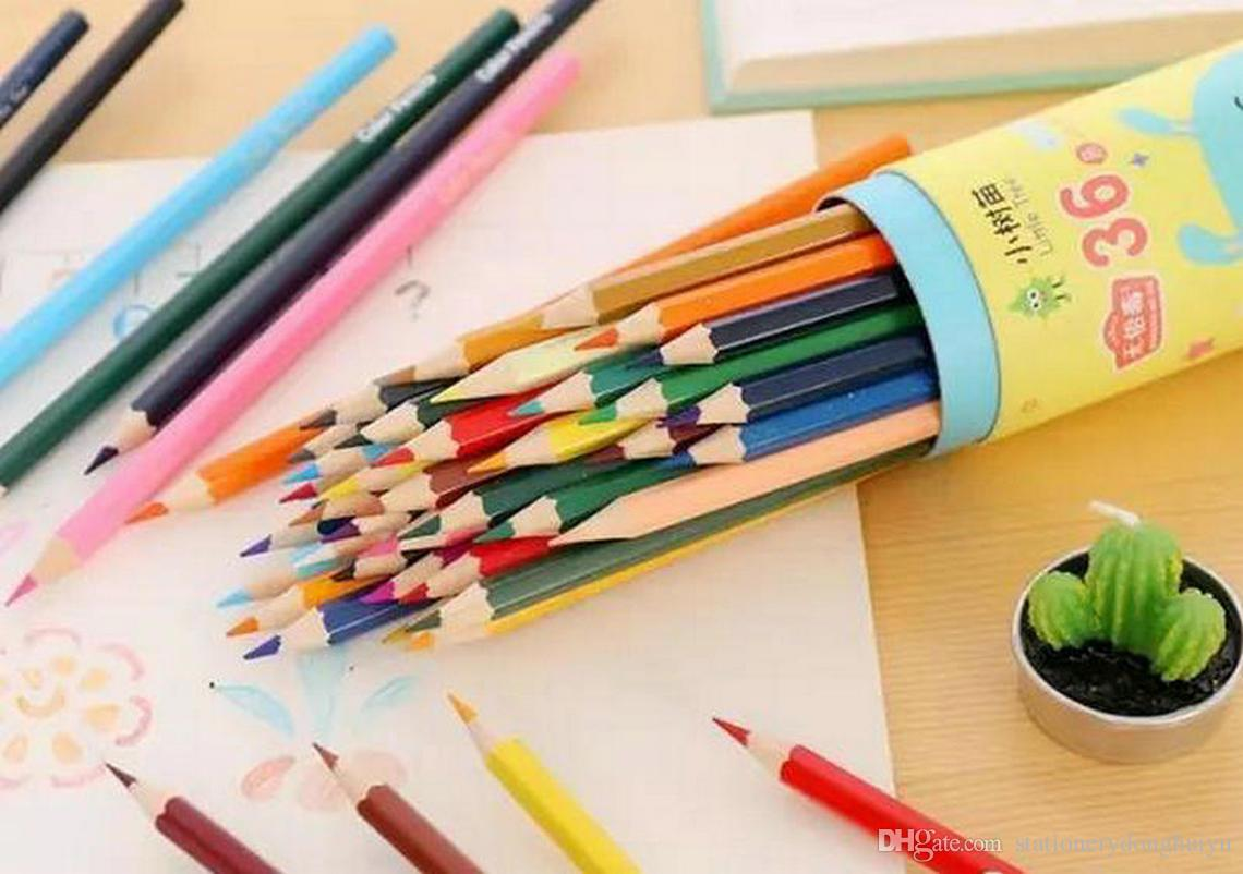 2018 wooden colored pencils painting pen drawing pencil painting