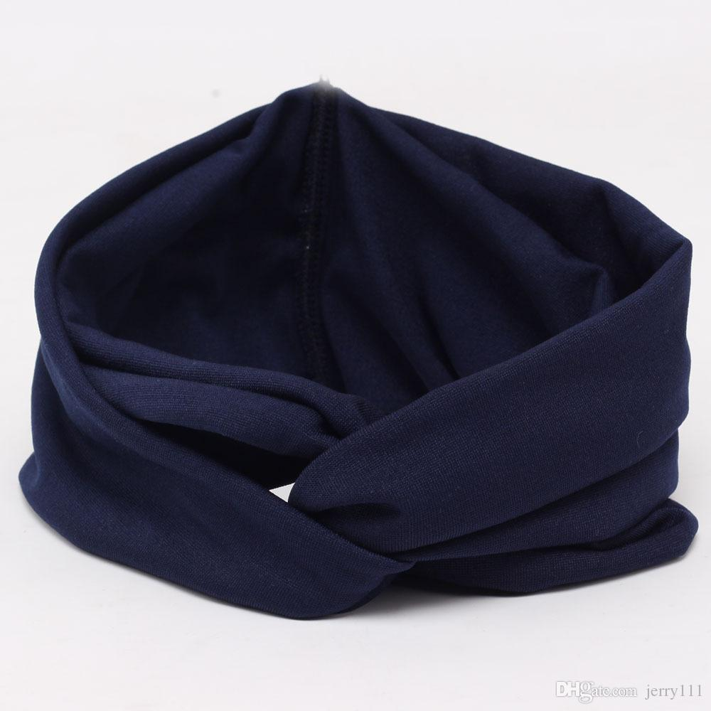 Hot Sales New Solid Twist Sport Fashion Yoga Stretch Headbands Women Turban Bandana Head wrap Hair Accessories LC441