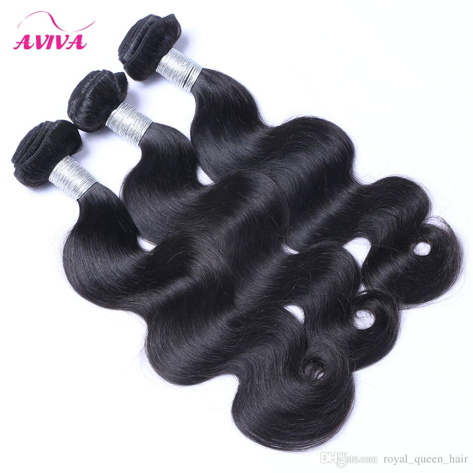 Brazilian Body Wave Virgin Human Hair Weave Bundles Peruvian Malaysian Indian Cambodian Remy Human Hair Extensions Natural Color Tangle Free