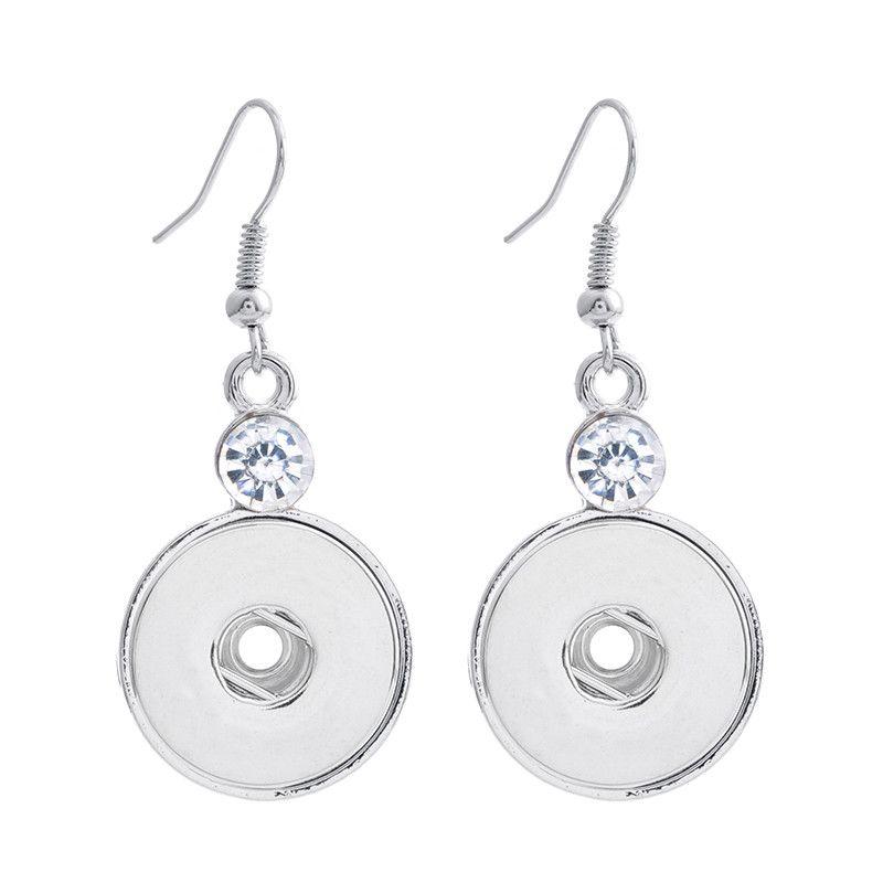 Noosa Chunk Ginger Snaps Jewelry Earrings 18mm Ginger Snap Button Earrings Trend DIY Jewelry Interchangeable Earrings ZA0097