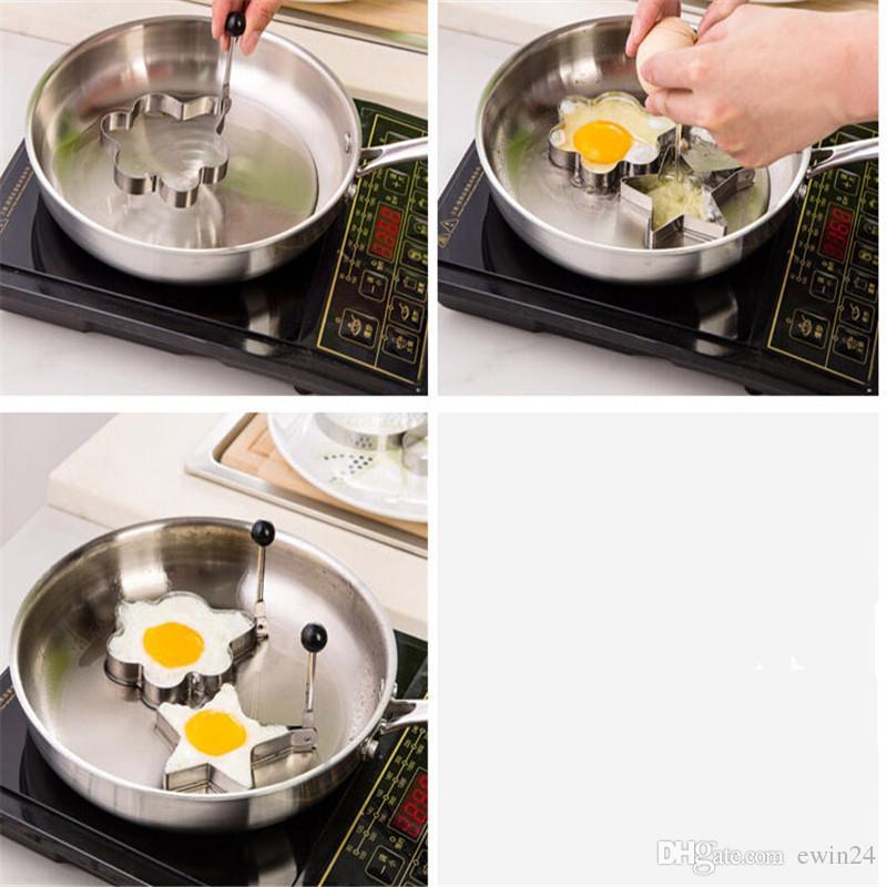 Жареные яйца формирователь кольцо блин плесень нержавеющей стали плесень кулинария инструменты 4шт/комплект бесплатная доставка