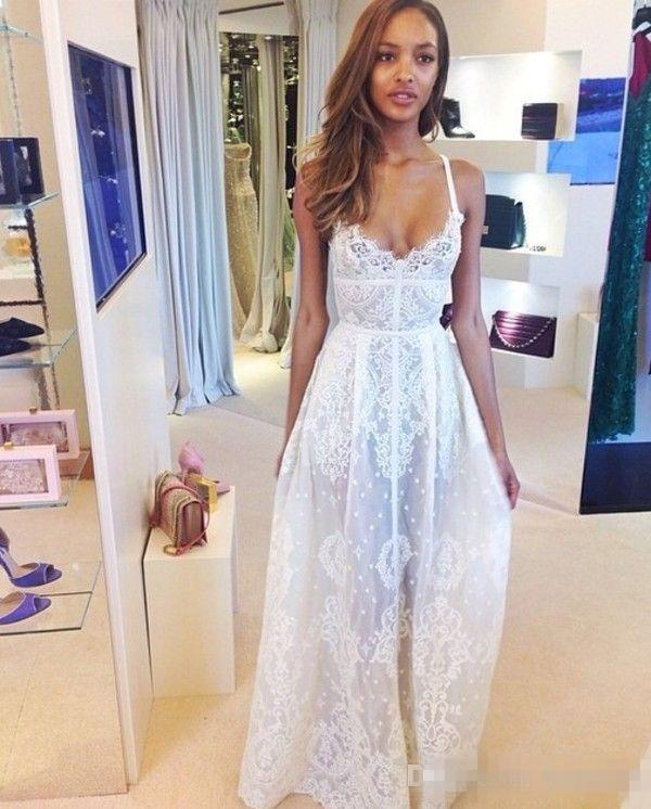 Discount simple style elie saab summer beach wedding dresses 2016 discount simple style elie saab summer beach wedding dresses 2016 spaghetti straps boho a line lace floor long bridal wedding gowns custom made cheap lace junglespirit Gallery