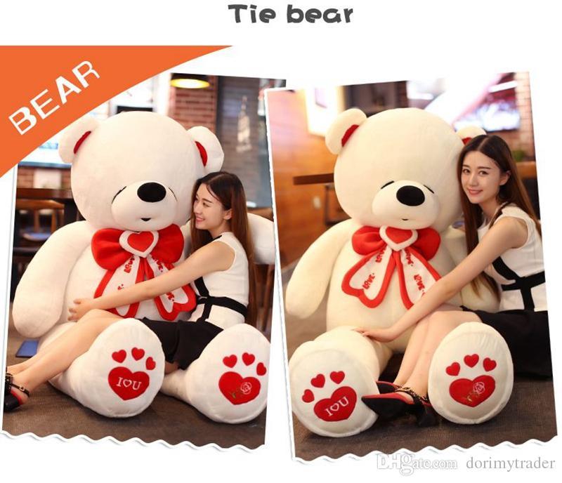 Dorimytrader lebensgroße Riese Teddybär Stofftier Krawatte Bär großen Valentinstag Bär Ich liebe dich Spielzeug Tiere Dekoration DY61862