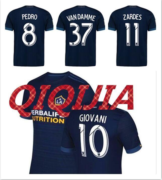 2018 Thai Quality La Galaxy 17 18 Away Blue Soccer Jersey 2017 2018 Gerrard  Zardes Giovani Keane Home White Football Shirts From Qiqijia dcabe363b