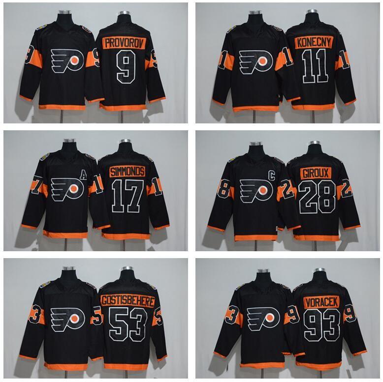 2019 Men Philadelphia Flyers 2017 Stadium Series 9 Ivan Provorov Jersey 11  Travis Konecny 17 Wayne Simmonds Claude Giroux 53 Shayne Gostisbehere From  ... 37e4cdd1f