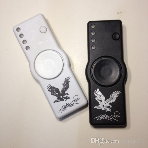 Fidget Spinner Cigarette Lighter LED Hand Spinner Plastic Gyro Finger Tip with opp bags DHL