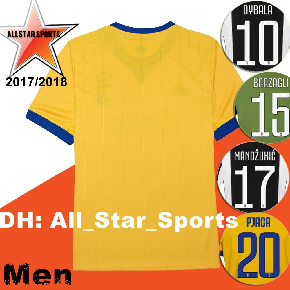 2018 Real Picture 2017 New It Club Soccer Jersey 17 18 Home Away Yellow  Blue Dybala Morata Dani Alves 2018 Serie A Football Shirt From  All star sports 013de780c