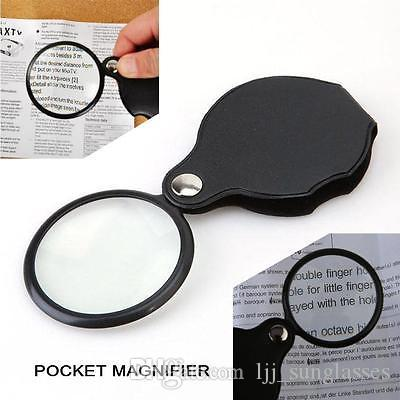 Mini Pocket 8X 50mm Folding Jewelry Magnifier Magnifying Eye Loupe Glass Lens Foldable Jewelry Loop Jewelry Loupes YYA409