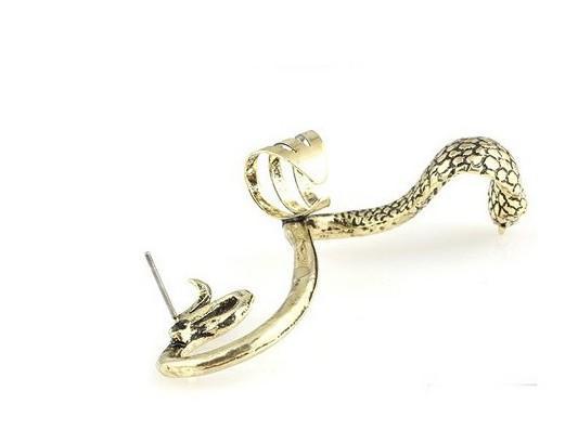 Punk Vintage Schlange Ohr Manschetten Gothic Antik Silber / Gold Piercing Ohrclips OhrsteckerWomens Fashion Ohrringe