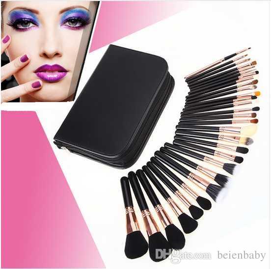 Make-Up Pinsel Profeesional Make-up Pinsel Set mit Fall Top Natur Borsten und Kunsthaar Make-up Pinsel Set