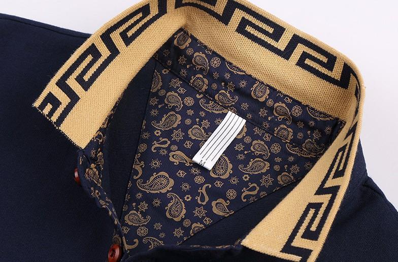 Polo da uomo Marca Plus Size M-5XL Polo da uomo in cotone da uomo Slim Fit Abbigliamento di marca Polo in cotone solido nero