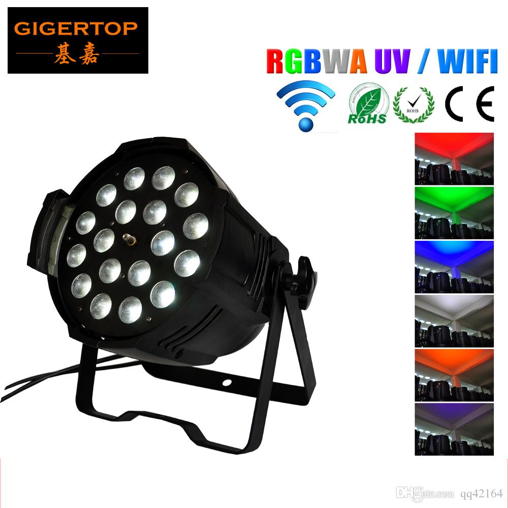 TIPTOP TP-P80B Remote Control 18 * 18W PAR LED RGBW âmbar UV 6in1Wireless DMX 512 LED Up Light - casamento - Led Light Stage sem fio