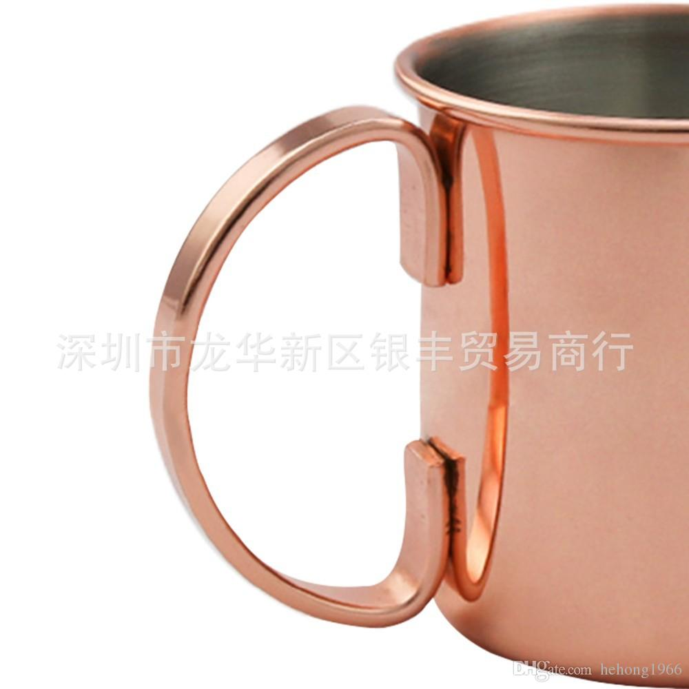 27yf Pratico in acciaio inox tazze di rame oro rosa Juliet tazze di vino Mosca mule tazza di cocktail robusta tazza bar casa contenitore della bevanda
