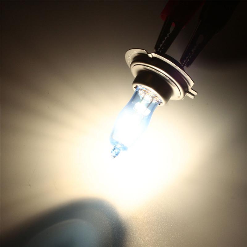 2Pcs H7 Xenon Light Bulbs Auto HeadLight Bulb Fog Light 6000K 12V 55W Parking H7 Car Styling SUPER BRIGHT WHITE