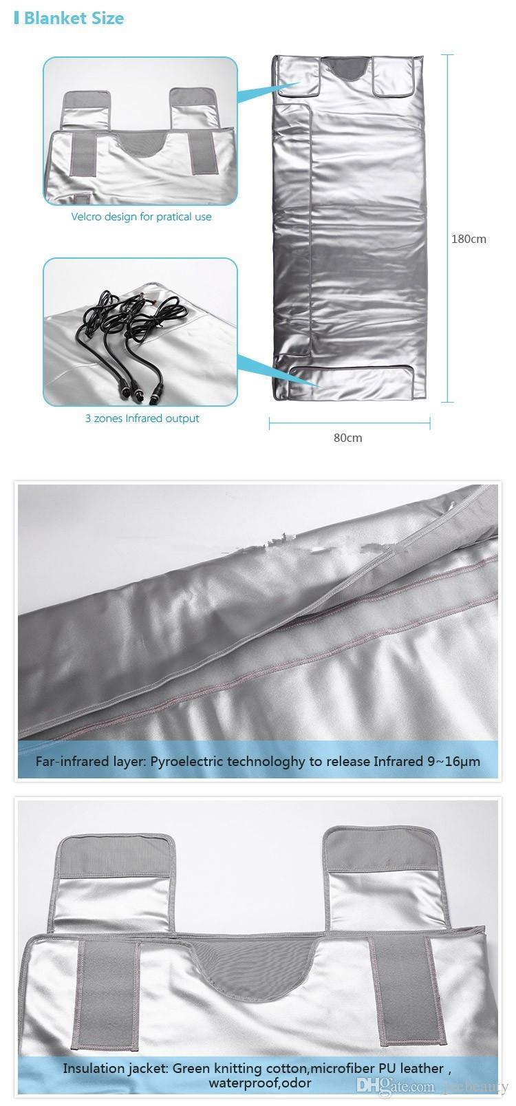 I nuovi tre zone infrarossi massaggio hot coperta termale bellezza sauna corpo disintossicazione dimagrimento calore coperta
