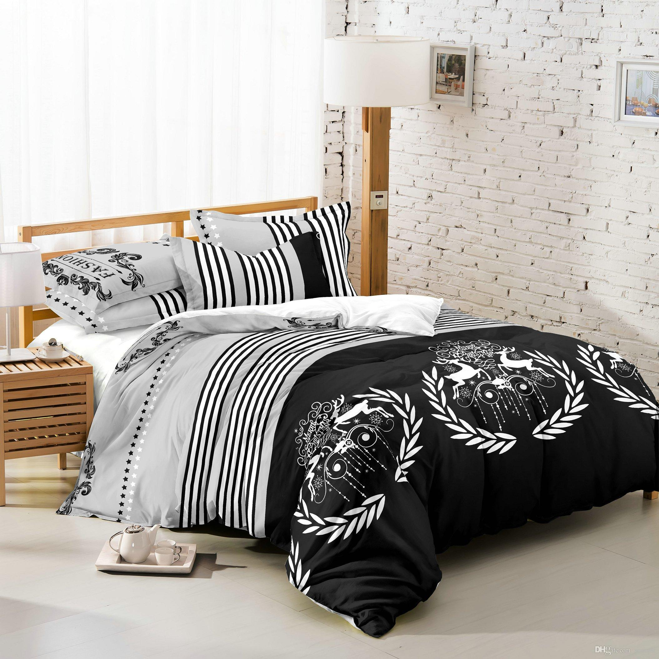 duvet cover doona size decor dorm mandala white black queen covers pin