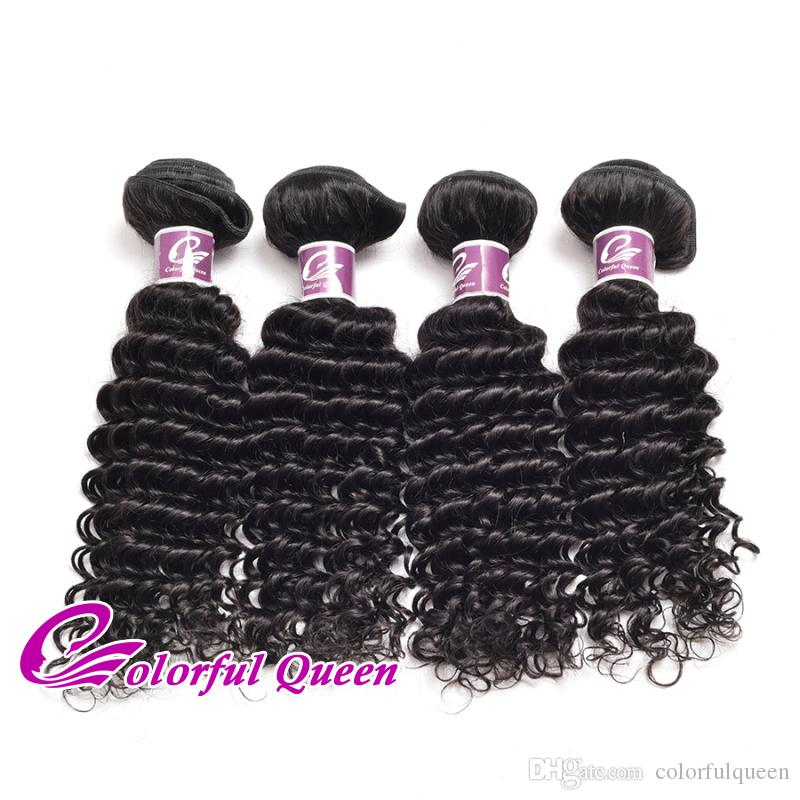 Malaysian Deep Curly Virgin Hair Extensions 3pcs 4pcs Deep Wave Human Hair Weave Wet Wavy Malaysian Curly Human Hair Bundles 8-26Inch