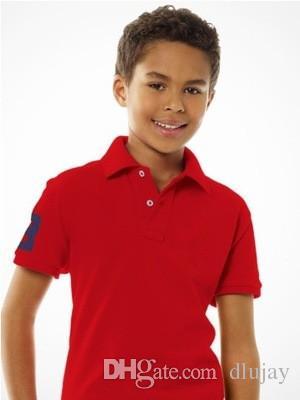 2019 Fashion Kids Polo t Shirt bambini bavero maniche corte T shirt Ragazzi Tops Abbigliamento Marche tinta unita Tees ragazze Classic Cotton T-shirt