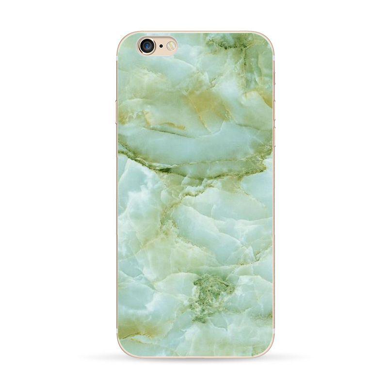 Wholesale Personalizar logotipo transparente phone case para iphone 6 6 plus padrão de mármore case escudo do telefone móvel