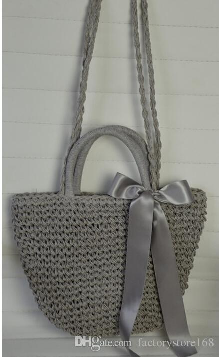 22559adb9 Dress Style Top Handmade Beach Straw Bag Womens Tote Handbag Bags With  Multi Pockets Cool Beach Bags Baggit Handbags Italian Leather Handbags From  ...