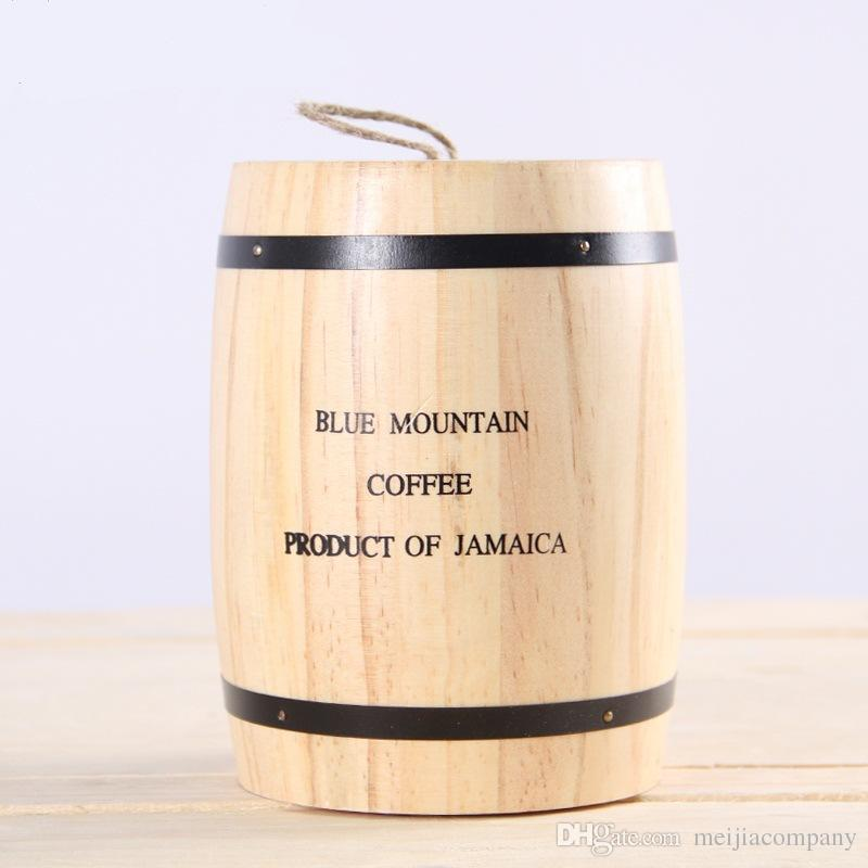 2018 Half A Pound Coffee Beans Storage Container Wooden Sealed Tank Incense Barrel D&proof Storage Barrel From Meijiacompany $16.09 | Dhgate.Com & Half a pound Coffee beans storage container wooden sealed tank incense barrel dampproof storage barrel free shipping