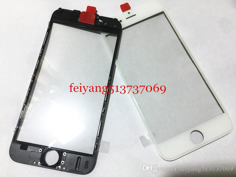 20 pezzi originale Cold Press 100% frontale Touch Screen Panel Obiettivo esterno in vetro con cornice centrale cornice bezel iPhone 7 6 6s 6 plus 6s plus