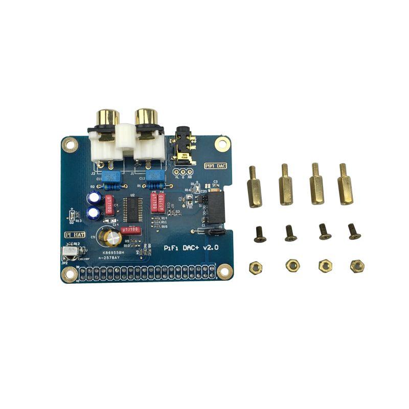 Freeshipping Raspberry Pi 3 Analog Audio Board HIFI DAC Sound Card Module  Expansion Board I2S Interface Compatible With Raspberry Pi 2 / B
