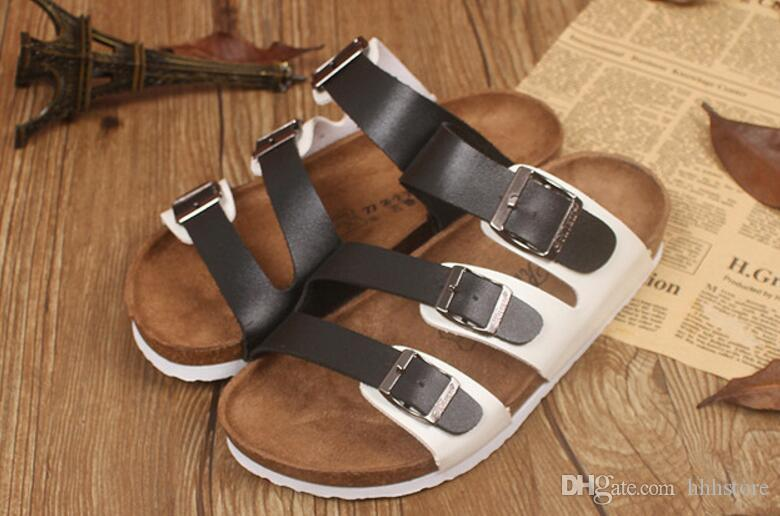 d4758ab4553 Fashion Summer Cork Slippers Sandals 2017 New Women Casual Beach ...