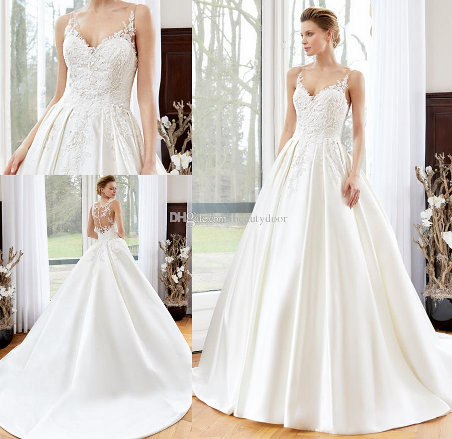 Discount new arrival 2017 wedding dresses lace top v neckline full discount new arrival 2017 wedding dresses lace top v neckline full skirts bridal dresses custom made court train lace satin wedding gowns a line short ombrellifo Gallery