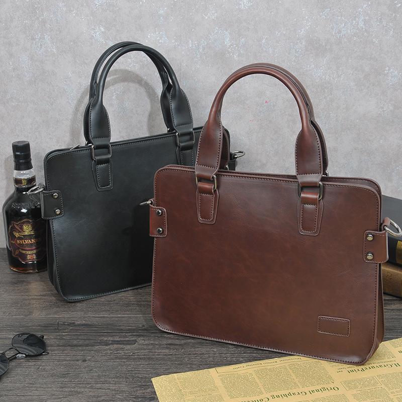44e9fca948 Acquista Nuovo Vintage Uomo Verticale In Pelle Pu Borse Uomo Messenger Bag  Uomo D'affari Borsa Valigetta Designer Crossbody Bag Borse A Tracolla A  $52.57 ...