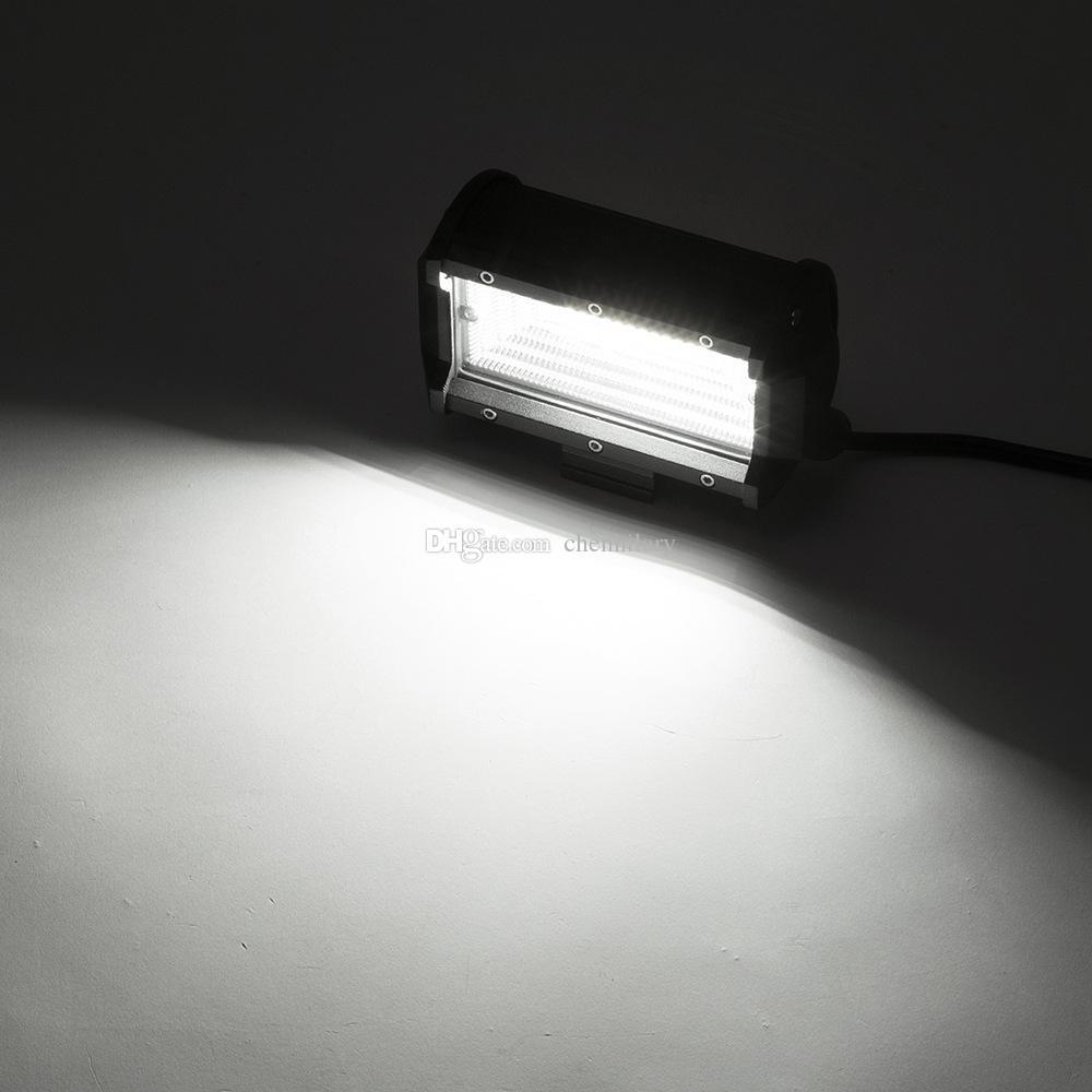2 stücke 5 inch 72 Watt Offroad LED Lichtleiste Flut Bleistift LED Arbeitslicht Bar Wasserdicht Fahren Nebelscheinwerfer ATV SUV Offroad Jeep Boot lampe
